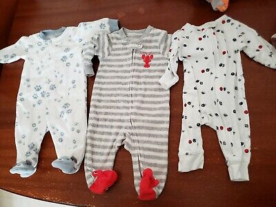 Baby Boy Sleepers Size 3 months Lot Of 4