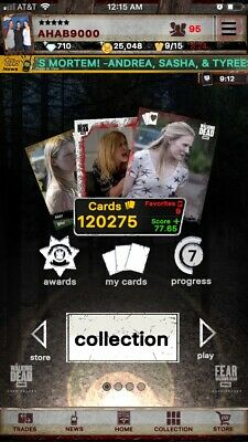 Topps Digital Walking Dead Any 9 Cards In Account For 2 Dollars. Ahab9000