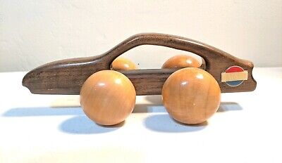 VTG 1980s Datsun 300ZX, Advertisting Wooden Back Massager / Toy Car