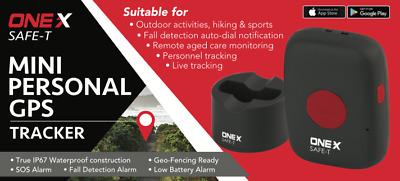 Onex Safe-T Elderly Mini Personal Gps Tracker With Sos & Fall Alert