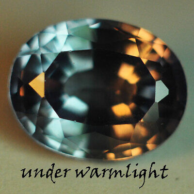 3.55ct.AWESOME RUSSIAN COLOR CHANGE ALEXANDRITE OVAL GEMSTONE