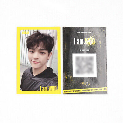 [Stray Kids]I am WHO Official QR Photocard / YELLOW / Selfie - WOOJIN