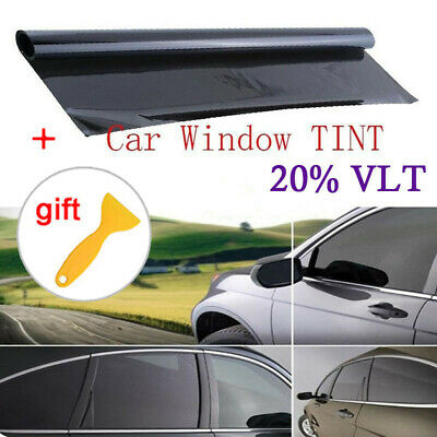 20% VLT Car Black Pro Car Home Glass Window Tint Tinting Film Roll 100*50cm New