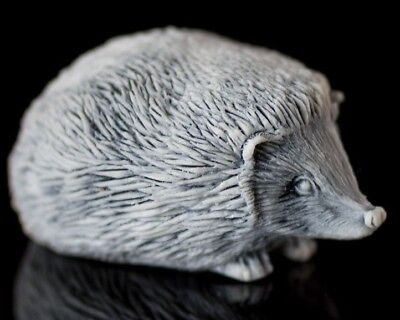 Hedgehog Marble, Statue, Russian Handmade Collectible Statuette, Animal Figurine