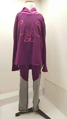 Tea Collection Snore Sport Hoodie  and  Colorblock Sport Leggings Size 8