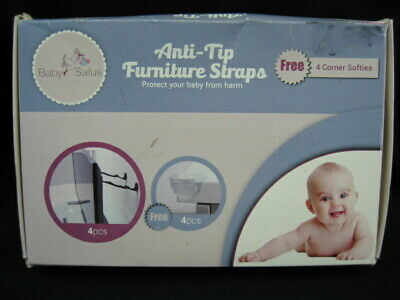 BRAND NEW Lot of 3 Baby Safety Products - Corner guards/safety catches/straps