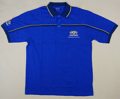 Fosters Beer Polo Shirt Official Merch F1 Grand Prix Embroidered Men Size XL