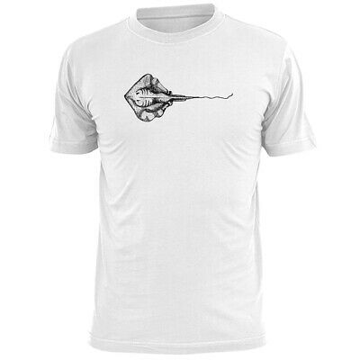 Ray Sketch Mens T Shirt Wildlife Sea Marine Life Fish