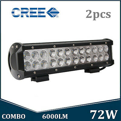 12inch 72W Led Light Bar Flood Spot Combo Beam 4X4WD UTE ATV Boat Tractor Bumper