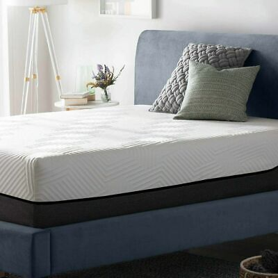 LUCID 12 inch Innerspring and Memory Foam Hybrid Mattress - Queen Size Bed