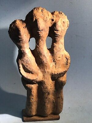 Circa 1500-1000Bce Ancient Phoenician-Canaanite Bronze Cunjoined Idol Very Rare