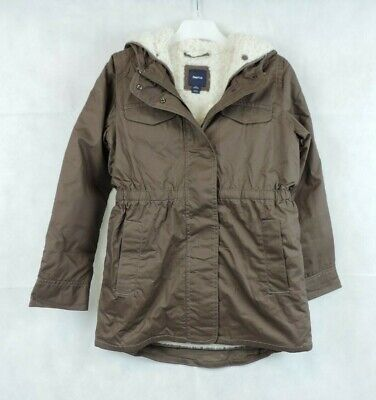 Gap Kids Brown Sherpa Parka Taproot Coat Size 10 - 11 Years CR098 DD 05