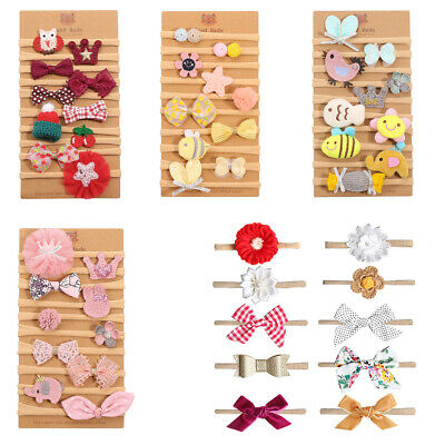 10pcs Baby Girl Headbands Bows Newborn Infant Toddler Hair Accessories Gifts