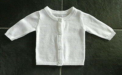 Baby Girls White Cardigan - Size 0000 - Brand: Kids & Co
