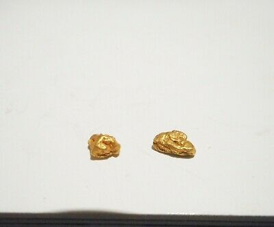 2 Genuine Australian Gold Nuggets Found In The Goldfields 0.52 Grams No 23