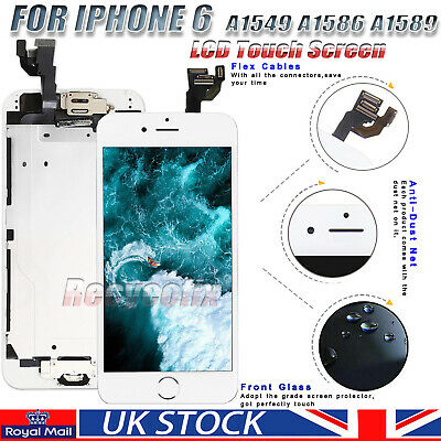 For iPhone 6 4.7''Screen Replacement LCD Touch Digitizer Homebutton Camera White