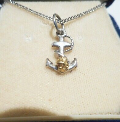 Genuine Australian Gold Nugget On A Sterling Silver Charm Display Necklace No 21