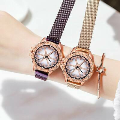 Starry Sky Diamond Dial Women Watch Fashion Decorative Watch Magnetic Stainless