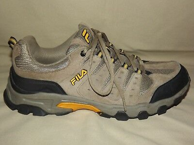 "Mens Gently Worn ""Fila"" Tan Suede Hiking Type Shoes With Scuff Proof Toe 101/2 M"