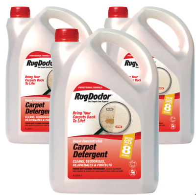 Rug Doctor Carpet Cleaner Deep Cleaning Concentrated Detergent Shampoo 4L X 3