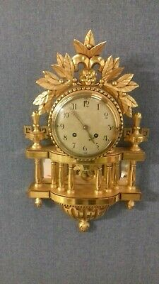 Westerstrand Swedish Gilt Carved Wood Ornate Wall Clock Working Order
