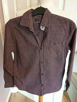 Superb Boys Designer Ted Backer Check Shirt Uk 12 Years Rrp £40.00