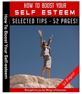 How To Boost Your Self Esteem - eBook PDF + Master Resell Rights + Feedback