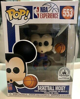 Mickey Mouse Basketball Funko Pop #553 NBA Experience Disney Park Exclusive! New