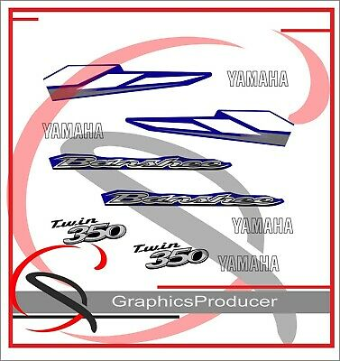 Yamaha Banshee 2004 Black Decals Limited Edition Replica Decals For OEM Fenders