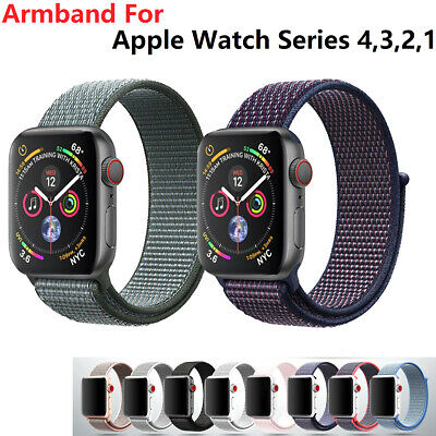 Für Apple Watch Armband Nylon Band Uhrenarmband Sport Loop Series 1, 2 , 3, 4