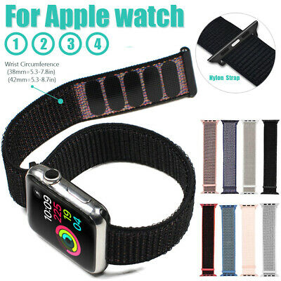 Apple Watch Nylon Armband Sport Loop aus Nylon-Gewebe Series 4 3 2 1 38mm 42mm