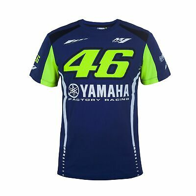 VR46 Valentino Rossi Yamaha Factory Racing Men's Cotton T-Shirt Tee - Blue XS
