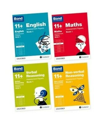 Bond11 plus 10-11 Assessment Papers English Maths Verbal & No Verbal 4 books set