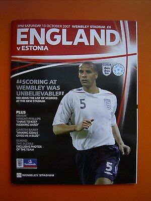 UEFA European Championship Qualifier - England v Estonia - 13th October 2007
