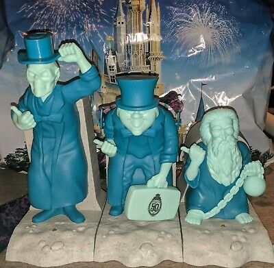Disney Haunted Mansion 50th Hitchhiking Ghosts Popcorn Bucket Sipper Holder set