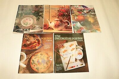 LOT OF 5 THE DECORATIVE PAINTER Tole Painting Magazine Issues 1999