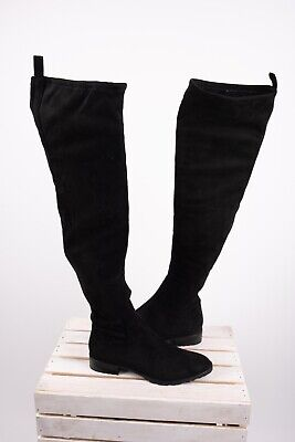 fd5d61a2a43c6 ZARA AW17 FLAT Over The Knee Boots With Chain Size 9 EU 40 NWT ...