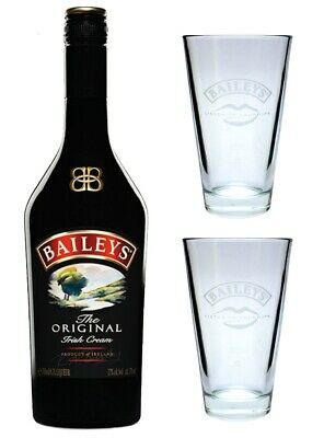 Baileys Irish Cream 17% 0,7l mit 2 original Gläsern - Set - Glas - Becher