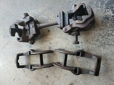 Antique 1945 Ford Chevrolet Mercury Pontiac Clamp-on Tow Bar Swivel Pinch Vises