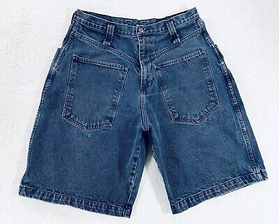 Vtg Quicksilver Denim Jean Backwards Shorts Surf Skate Hip Hop 90s Mens Size 32