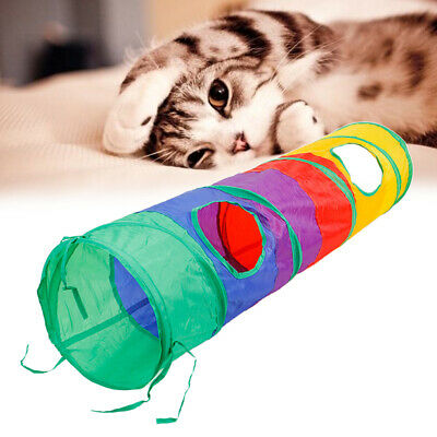 1Pc Foldable Cat Tunnel Durable Cute Kitten Tubes for Cats Dogs Rabbits Puppies