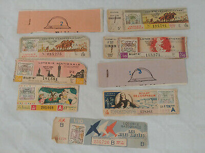 Lot Billets Et Carnets Loterie Nationale 1945 Divers A Voir