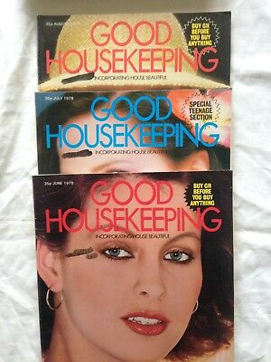 Vintage (June, July and August 1978) Good Housekeeping magazines