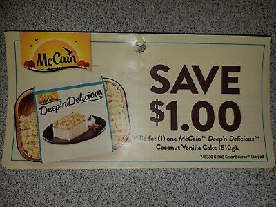 9 x SAVE $1.00 on McCain Coupons CANADA ONLY - Expiry March 31, 2020