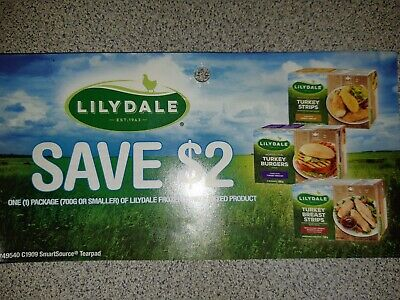8 x Save $2.00 on 1 package of Lilydale Coupons CANADA ONLY - Expiry Oct. 31/19