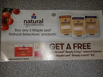 Lot of 7 x Buy 3 Get 1 Coupons CANADA ONLY - Exp. Sept 30/2019