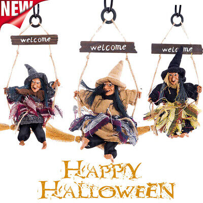 Hanging Ghost Flying Witch Pendant Horror Scary Door Decor Party For Halloween