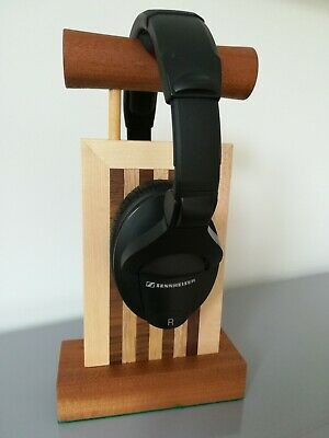 New Handmade Wooden Headphone Stand
