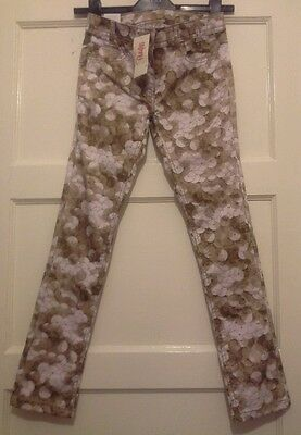 BNWT GIRLS*NEXT* , 10YEARS OLD, SKINNY SLIM TROUSERS CHINO , SEQUIN PRINT,140cms