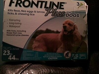 Merial Frontline Plus Flea & Tick Control for Medium Dogs 23-44 lbs for 3 Month
